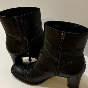Cole Haan Ankle Boot Size 8.5 Black Leather